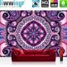 Vlies Fototapete no. 4354 | Gemälde & Kunstwerke Tapete Mosaik Arabeska Violett lila | liwwing (R)