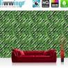 Vlies Fototapete no. 4336 | Gemälde & Kunstwerke Tapete Abstraktion Design Mosaik Blatt Pflanze Streifen grün | liwwing (R)
