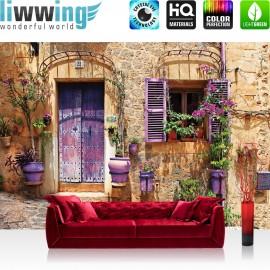 Vlies Fototapete no. 4339 | Städte & Länder Tapete Mittelmeer mediterran Haus Tür bunt | liwwing (R)