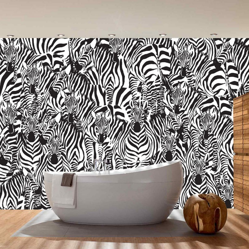 Vlies fototapete no 4340 gem lde kunstwerke tapete for Zebra tapete