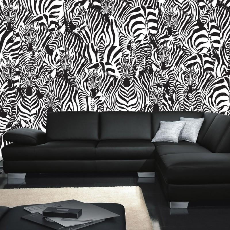 4340 | Gemälde U0026 Kunstwerke Tapete Kunst Zebra Tier Modern Mosaik Design ...