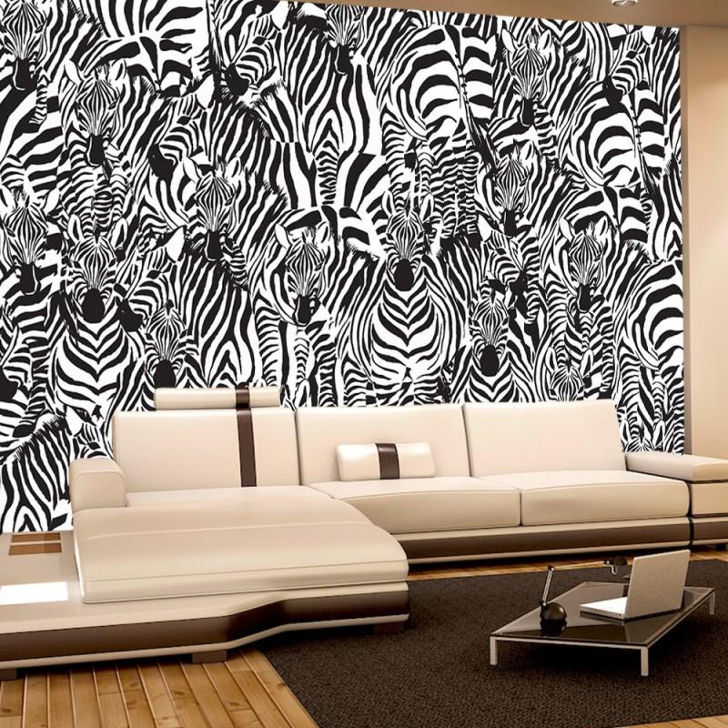 4340 | Gemälde U0026 Kunstwerke Tapete Kunst Zebra Tier Modern Mosaik Design