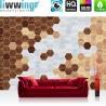 Vlies Fototapete no. 4415 | Kunst Tapete Abstraktion Design Modern Mosaik Baum Brett braun | liwwing (R)