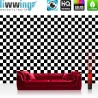 Vlies Fototapete no. 4420 | Kunst Tapete Abstraktion Design Modern Mosaik Geometrie Schachbrett schwarz - weiß | liwwing (R)