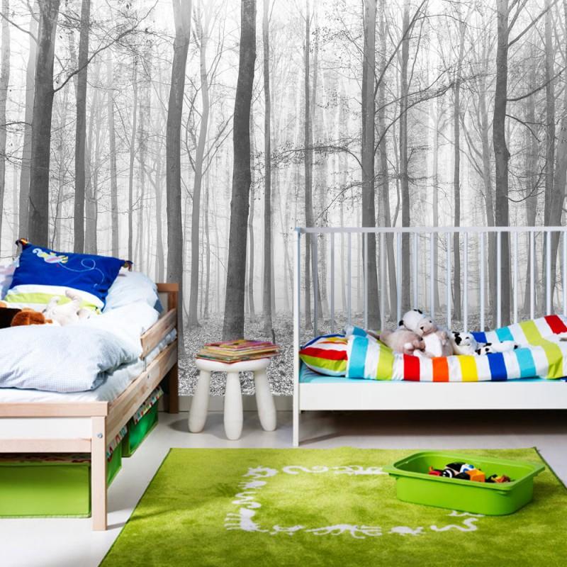 vlies fototapete no 4433 natur tapete wald baum nebel grau liwwing r. Black Bedroom Furniture Sets. Home Design Ideas