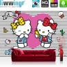 Vlies Fototapete no. 4477 | Kinder & Jugend Tapete Sanrio Hello Kitty Cartoon Katze Herzen Ornamente bunt | liwwing (R)