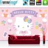 Vlies Fototapete no. 4479 | Kinder & Jugend Tapete Sanrio Hello Kitty Cartoon Katze Herzen Ornamente bunt | liwwing (R)