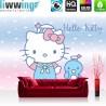 Vlies Fototapete no. 4483   Kinder & Jugend Tapete Sanrio Hello Kitty Cartoon Katze Schleifen Wolken Sterne bunt   liwwing (R)