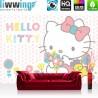 Vlies Fototapete no. 4484   Kinder & Jugend Tapete Sanrio Hello Kitty Cartoon Katze Schleifen Blumen bunt   liwwing (R)