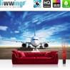 Vlies Fototapete no. 4512 | Luftfahrzeug Tapete Flugzeug Flughafen Himmel Transportmittel Wolken Reise natural | liwwing (R)