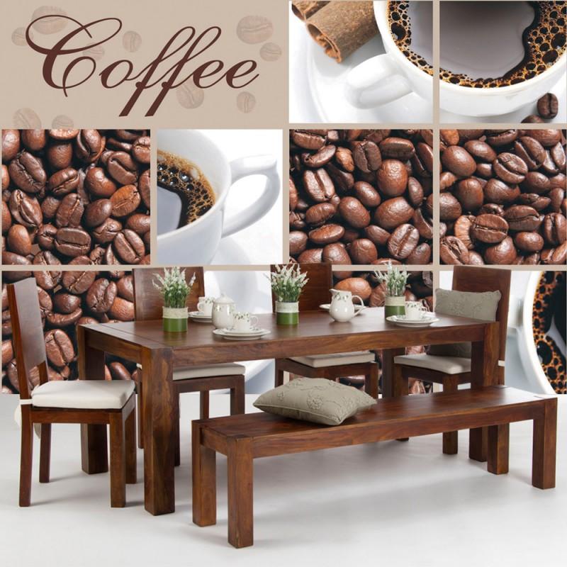 vlies fototapete no 297 kaffee tapete coffee bohnen. Black Bedroom Furniture Sets. Home Design Ideas