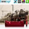 Vlies Fototapete no. 4510 | Fahrzeug Tapete Dampflokomotive Zug Transportmittel Wald Reisen natural | liwwing (R)