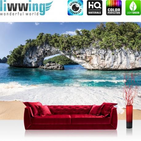 Vlies Fototapete no. 4445 | Natur Tapete Insel Tropen Wasser Sand Fels bunt | liwwing (R)