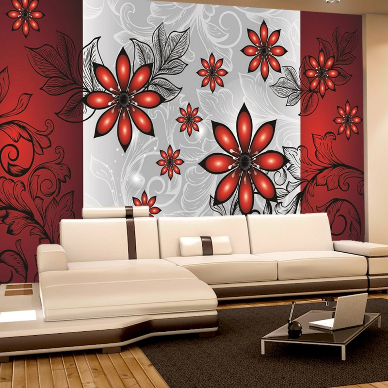 vlies fototapete no 308 ornamente tapete blumen. Black Bedroom Furniture Sets. Home Design Ideas