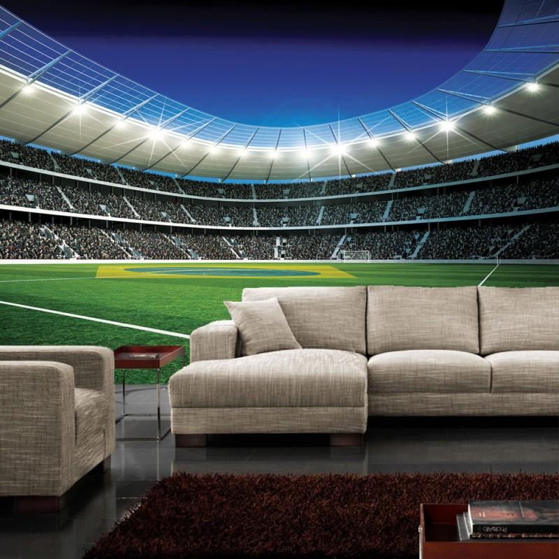 vlies fototapete no 309 fu ball tapete fu ballstadion. Black Bedroom Furniture Sets. Home Design Ideas