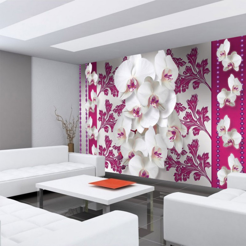 vlies fototapete no 320 orchideen tapete bl ten. Black Bedroom Furniture Sets. Home Design Ideas