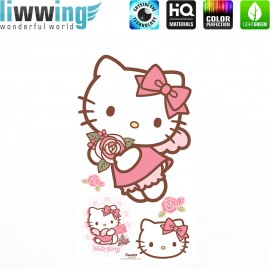 Wandsticker Sanrio Hello Kitty - No. 4625 Wandtattoo Wandaufkleber Sticker Kinderzimmer Katze Cartoon Kindersticker Mädchen