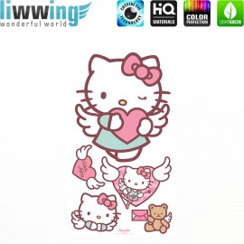 Wandsticker Sanrio Hello Kitty - No. 4626 Wandtattoo Wandaufkleber Sticker Kinderzimmer Katze Cartoon Kindersticker Mädchen