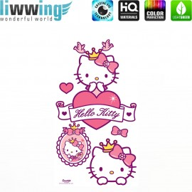 Wandsticker Sanrio Hello Kitty - No. 4627 Wandtattoo Wandaufkleber Sticker Kinderzimmer Katze Cartoon Kindersticker Mädchen