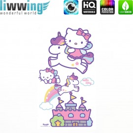 Wandsticker Sanrio Hello Kitty - No. 4628 Wandtattoo Wandaufkleber Sticker Kinderzimmer Katze Cartoon Kindersticker Mädchen