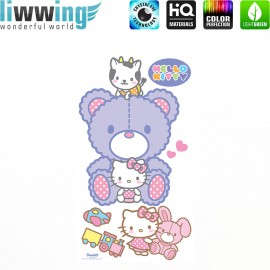 Wandsticker Sanrio Hello Kitty - No. 4629 Wandtattoo Wandaufkleber Sticker Kinderzimmer Katze Cartoon Kindersticker Mädchen