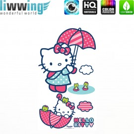 Wandsticker Sanrio Hello Kitty - No. 4630 Wandtattoo Wandaufkleber Sticker Kinderzimmer Katze Cartoon Kindersticker Mädchen