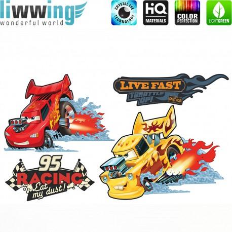 Wandsticker Disney Cars - No. 4634 Wandtattoo Wandaufkleber Sticker Kinderzimmer Auto Kindersticker Lightning McQueen Jungen