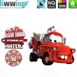 Wandsticker Disney Cars - No. 4635 Wandtattoo Wandaufkleber Sticker Kinderzimmer Auto Kindersticker Lightning McQueen Jungen