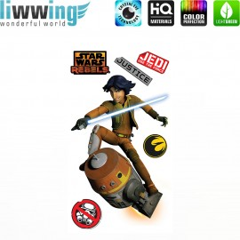 Wandsticker Disney Star Wars - No. 4637 Wandtattoo Wandaufkleber Sticker Kinderzimmer Laserschwert Weltall Raumschiffe Jungen