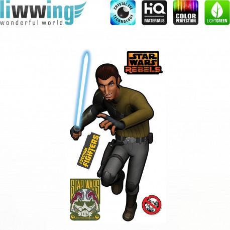 Wandsticker Disney Star Wars - No. 4638 Wandtattoo Wandaufkleber Sticker Kinderzimmer Laserschwert Weltall Raumschiffe Jungen