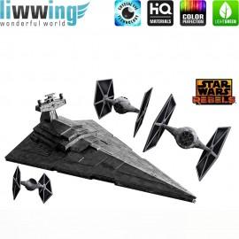 Wandsticker Disney Star Wars - No. 4640 Wandtattoo Wandaufkleber Sticker Kinderzimmer Laserschwert Weltall Raumschiffe Jungen