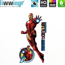 Wandsticker Marvel Avengers - No. 4644 Wandtattoo Wandaufkleber Sticker Kinderzimmer Hulk Iron Man Thor Captain America