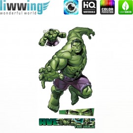 Wandsticker Marvel Avengers - No. 4647 Wandtattoo Wandaufkleber Sticker Kinderzimmer Hulk Iron Man Thor Captain America