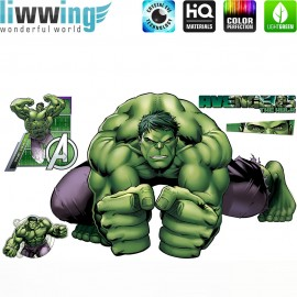 Wandsticker Marvel Avengers - No. 4648 Wandtattoo Wandaufkleber Sticker Kinderzimmer Hulk Iron Man Thor Captain America