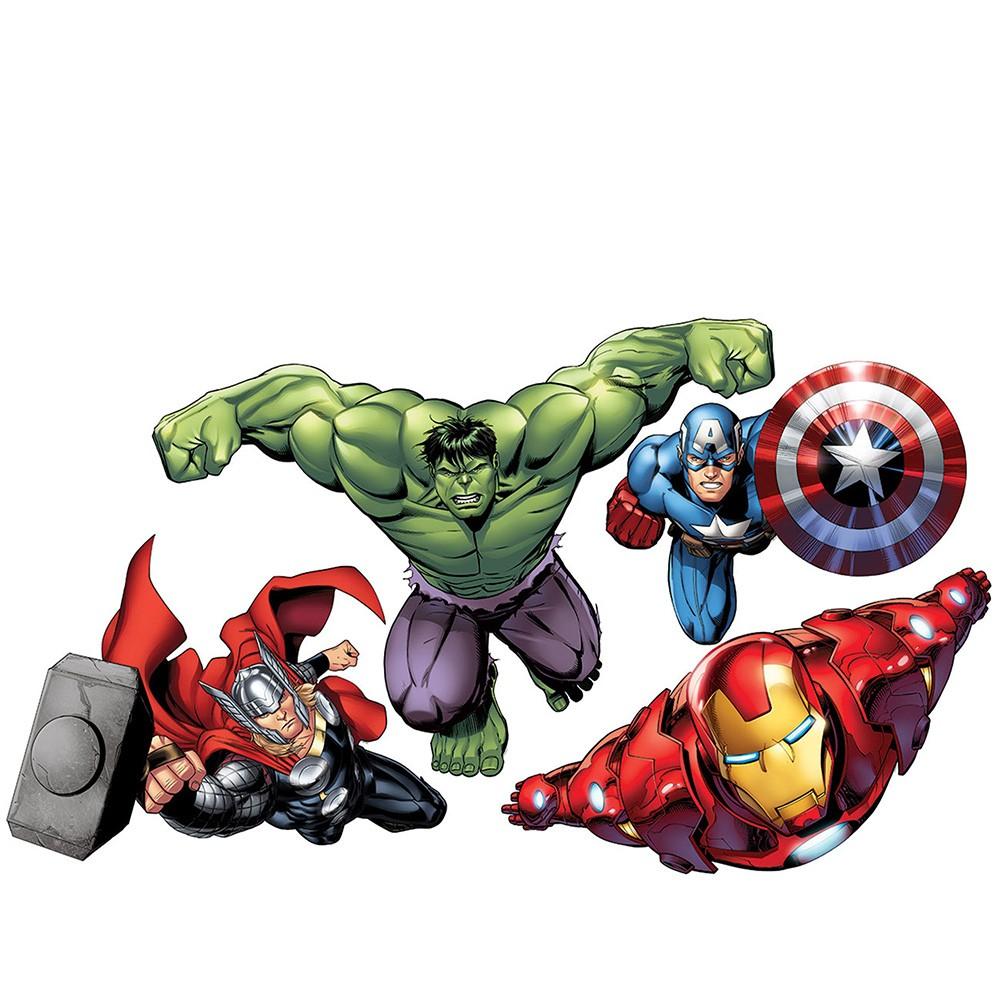 Wandsticker Marvel Avengers - No. 4650 Hulk Iron Man Thor Captain ...