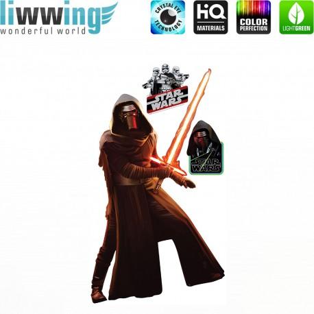 Wandsticker Disney Star Wars - No. 4666 Wandtattoo Wandaufkleber Sticker Kinderzimmer Laserschwert Weltall Raumschiffe Jungen
