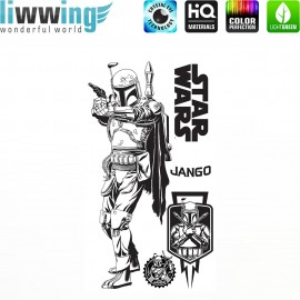 Wandsticker Disney Star Wars - No. 4667 Wandtattoo Wandaufkleber Sticker Kinderzimmer Laserschwert Weltall Raumschiffe Jungen