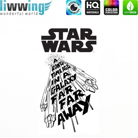 Wandsticker Disney Star Wars - No. 4670 Wandtattoo Wandaufkleber Sticker Kinderzimmer Laserschwert Weltall Raumschiffe Jungen