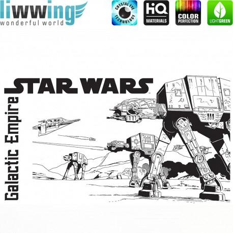 Wandsticker Disney Star Wars - No. 4672 Wandtattoo Wandaufkleber Sticker Kinderzimmer Laserschwert Weltall Raumschiffe Jungen