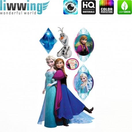 Wandsticker Disney Frozen - No. 4673 Wandtattoo Wandaufkleber Sticker Kinderzimmer Eiskönigin Schneemann Olaf Elsa Anna Mädchen