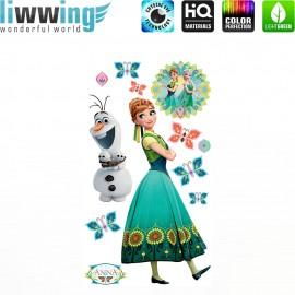 Wandsticker Disney Frozen - No. 4674 Wandtattoo Wandaufkleber Sticker Kinderzimmer Eiskönigin Schneemann Olaf Elsa Anna Mädchen