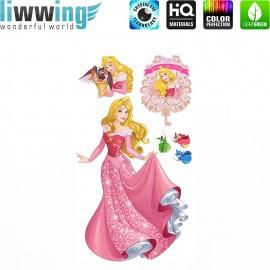 Wandsticker Disney Princesses - No. 4682 Wandtattoo Wandaufkleber Sticker Kinder Schneewitchen Arielle Cinderella Dornröschen