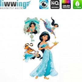 Wandsticker Disney Princesses - No. 4683 Wandtattoo Wandaufkleber Sticker Kinder Schneewitchen Arielle Cinderella Dornröschen