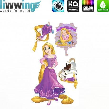 Wandsticker Disney Princesses - No. 4684 Wandtattoo Wandaufkleber Sticker Kinder Schneewitchen Arielle Cinderella Dornröschen
