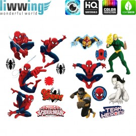 Wandsticker Marvel Avengers - No. 4689 Wandtattoo Wandaufkleber Sticker SpidermannIllustration Cartoons