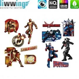 Wandsticker Marvel Avengers - No. 4691 Wandtattoo Wandaufkleber Sticker Hulk Iron Man Thor Captain America Black Widow Cartoons