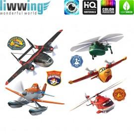 Wandsticker Disney Planes - No. 4699 Wandtattoo Wandaufkleber Sticker Kindersticker Flugzeuge Autos