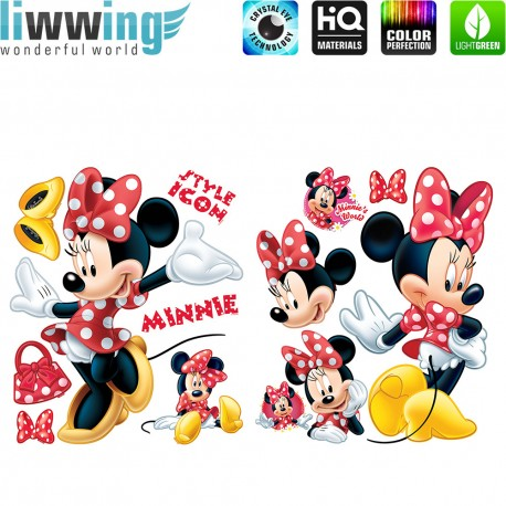 Minnie mouse wandtattoo cheap girl name wall decal minnie mouse wall decals name stickers baby - Micky maus wandtattoo ...