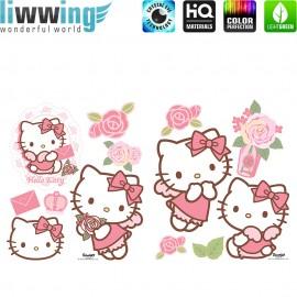 Wandsticker Sanrio Hello Kitty - No. 4723 Wandtattoo Wandaufkleber Sticker Katze Cartoon Illustration Kindersticker Mädchen