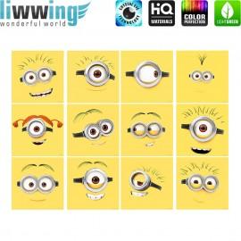 Wandsticker Minions - No. 4744 Wandtattoo Wandaufkleber Sticker Bob Kevin Gru Stuart Scarlett Herb Madge Trickfilm Cartoons